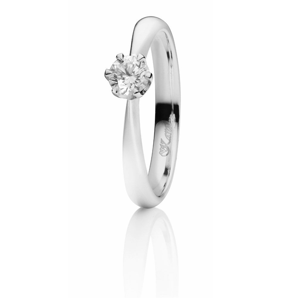 Juwelier Karat Ring Weißgold 585/- 0,30ct