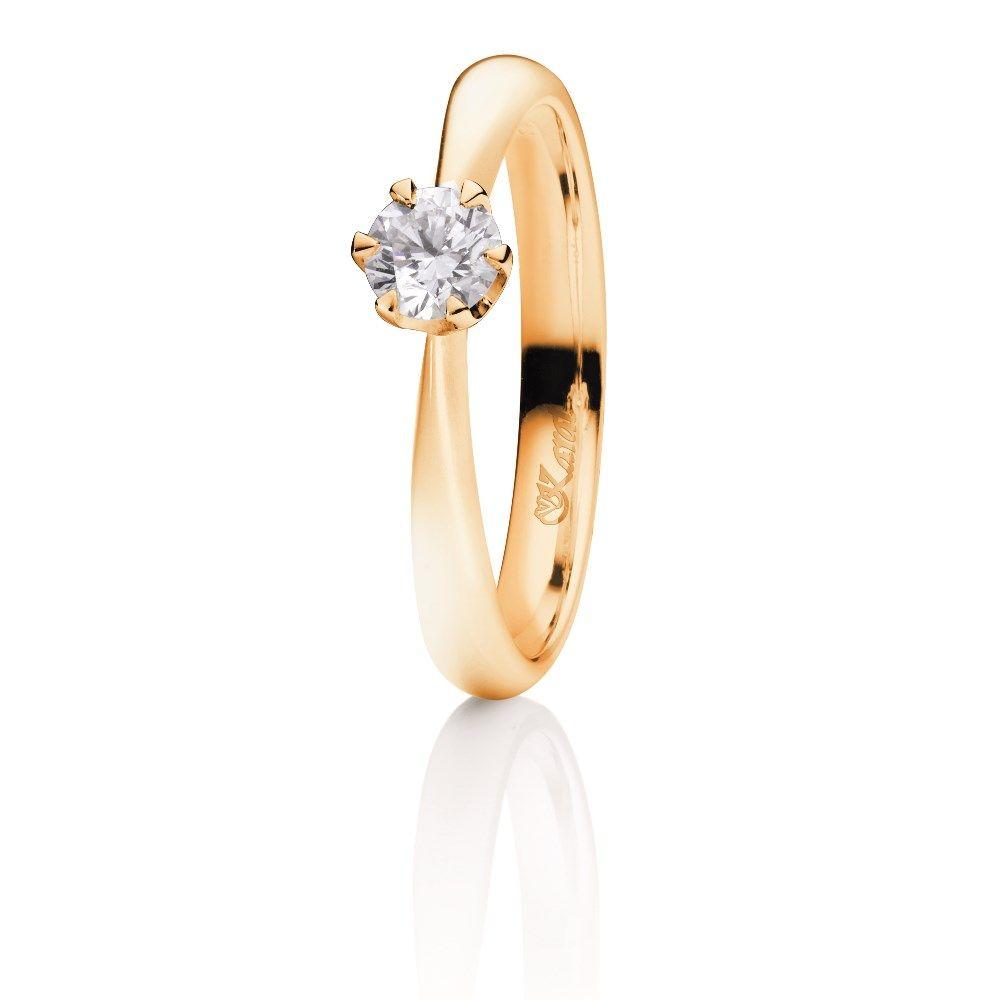 Juwelier Karat Ring Gelbgold 585/- 0,30ct