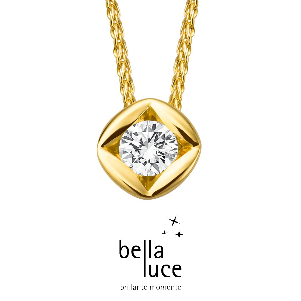 bellaluce Solitaire Collier Gelbgold 585/- 0,20ct / EH000694