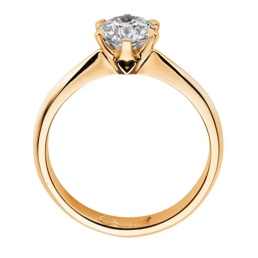 Juwelier Karat Ring Gelbgold 585/- 0,50ct